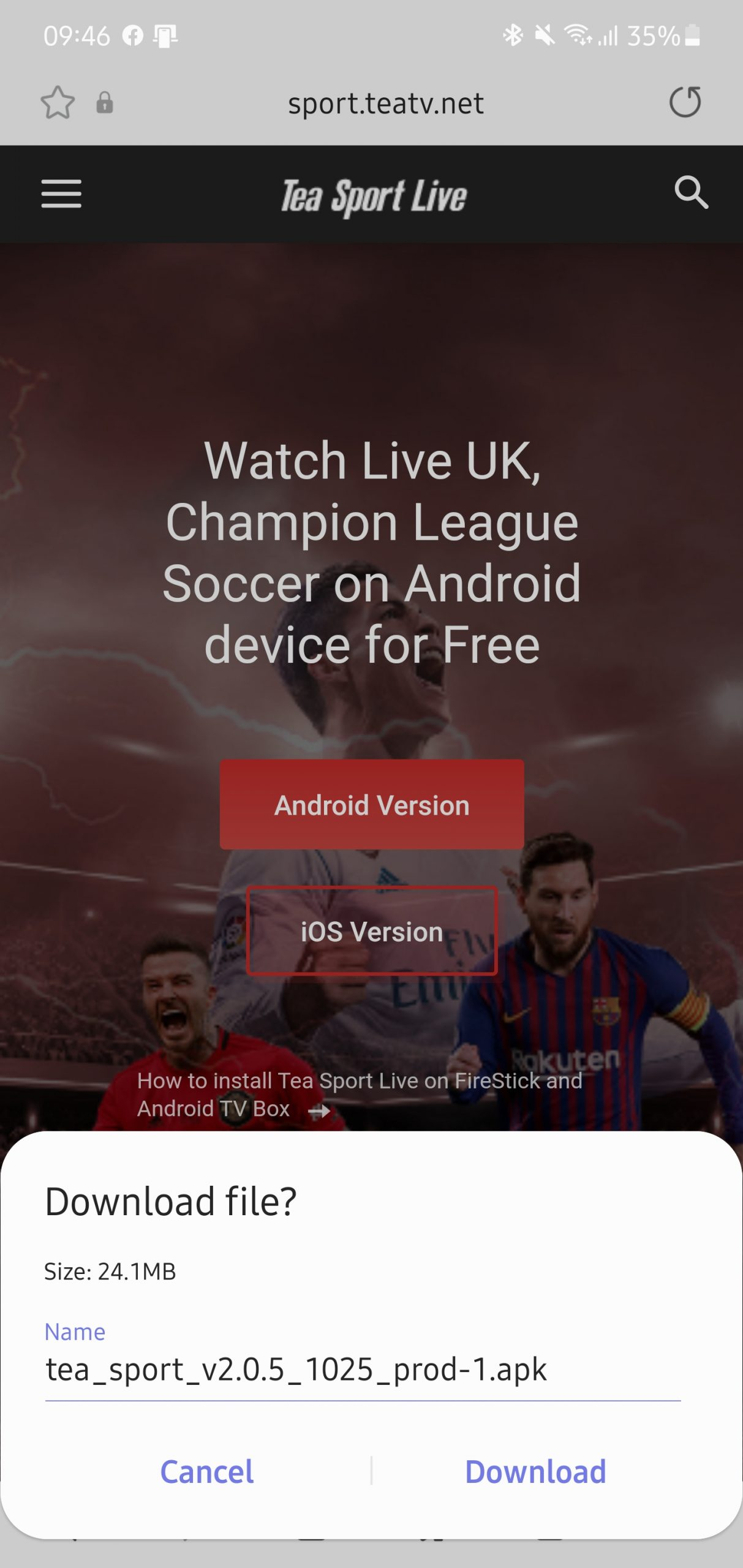 how-to-install-tea-sport-live-best-app-for-euro-2020-free 3